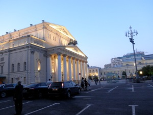 the main Bolshoi theater at 10.15 pm